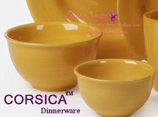 CORSICA外贸彩绘陶瓷器饭儿童情侣生日礼物中西欧餐具纯色小碗4色,碗盆,