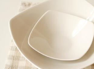 景德镇商会优雅诠释:日式厚瓷四角飞扬大汤碗/盆/独特造型Y103,碗盆,