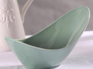 外贸出口陶瓷 新加坡名品 悉尼 沙拉碗 汤碗 异形碗 翡翠绿 特价,碗盆,