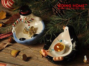 雪人 企鹅零食小碗  圣诞礼物  25元1个,碗盆,