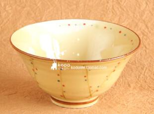 可多 zakka 杂货 彩色点点陶瓷陶瓷花边碗(小号),碗盆,