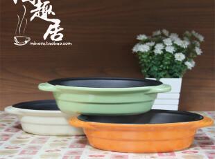 【烘焙陶瓷】椭圆形双耳不粘底烘焙陶瓷碗/焗饭盘 日本原单陶瓷,碗盆,