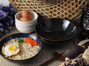 青色 精致 陶瓷 碗 汤碗 面碗 (清凉的夏夜),碗盆,