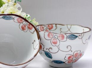 创意 青花瓷陶瓷碗 情侣对碗 泡面碗 汤碗 日式餐具套装 日本樱花,碗盆,