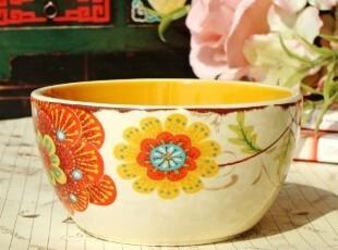 舌尖上的碗/法式乡村/巴洛克仿旧陶瓷小菜碗/沙拉碗/米饭碗,碗盆,