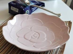 终于补货到,最后一批:白色莲花沙拉盘/果碗 出口 西餐餐具,碗盆,