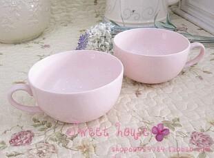 外贸ZAKKA欧美西式早餐咖啡汤面牛奶茶儿童陶瓷杯子带手柄粉色碗,碗盆,