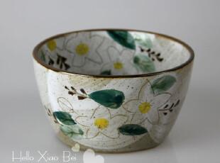 外贸原单出口 日本手工陶瓷餐具日式碗 汤碗面碗饭碗鸡蛋花320,碗盆,