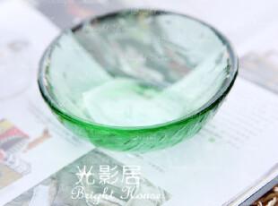 清凉一夏绿色玻璃碗 饭碗 瓜子碗 沙拉碗 糖果碗 婴儿碗 酱菜碗,碗盆,