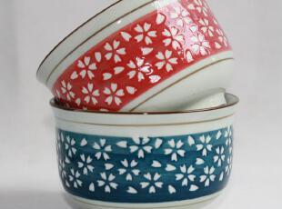 特价日式陶瓷器餐具碗套装日本和风饭碗创意韩式外贸米饭碗釉下彩,碗盆,