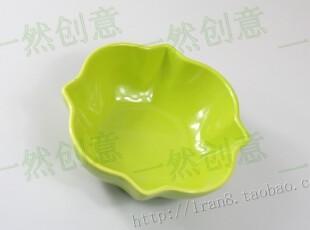 绿色八角吉祥花手绘碗/外单陶瓷/外贸尾单小碗,碗盆,
