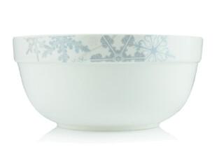 【飘雪】8寸护边韩国碗 陶瓷碗 大汤碗 破损包赔 微波炉适用,碗盆,