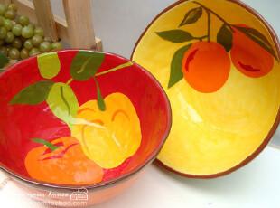 美丽说推荐 tag 田园果蔬 手绘外贸陶瓷沙拉碗/大号汤碗/拉面碗,碗盆,
