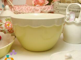 预定7月12日发货 外贸 鸡蛋花边 韩国陶瓷汤碗/料理搅拌碗/拉面碗,碗盆,