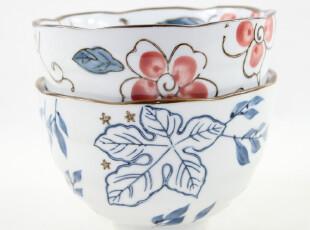 日式陶瓷器餐具套装情侣对碗手绘面碗饭碗创意外贸日本和风原单,碗盆,