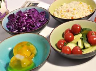 [景隆轩]特价餐具 冰裂釉碗四只装 创意米饭碗 面碗 景德镇陶瓷,碗盆,