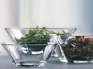欧森丹尔 透明无铅玻璃碗 欧洲原装进口大中小3件套 安全大方高雅,碗盆,