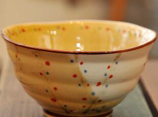 日式陶瓷饭碗(点点A款) 外贸陶瓷碗 zakka 杂货 三款可选,碗盆,