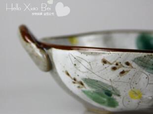 外贸出口日式日本手工手绘陶瓷餐具 双耳汤盆 饭碗面碗鸡蛋花 360,碗盆,