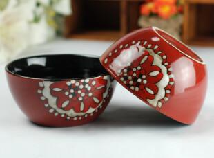 日韩式 晶釉 创意 套装 陶瓷  外贸原单 套装  元宝碗 Y10,碗盆,