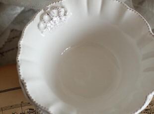尊贵皇冠 立体浮雕复古碗零食碗,碗盆,