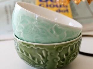 终于到现货:Luzerne祥龙浮雕情侣米饭碗(无logo) 出口,碗盆,