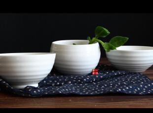 一鸿艺居 外贸陶瓷 出口瓷器餐具 螺纹碗 米碗 餐碗 饭碗系列,碗盆,