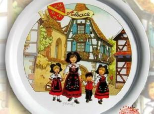 夏曼小农庄欢乐4重唱 北欧风 超大铁餐盘,碗盆,