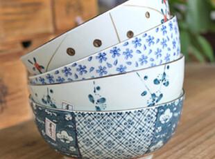 千度悠品 日式 和风 陶瓷 餐具 碗 面碗 汤碗 套装 礼盒 4入一套,碗盆,