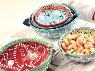 Cdesigner 独家。欧式陶瓷计量碗.手工点饰精品.缤纷色Y027,碗盆,