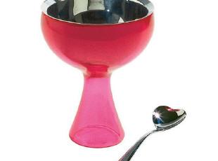 意大利A di Alessi BIG LOVE冰淇凌碗红(赠爱心小勺) AMMI01S F,碗盆,