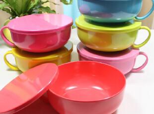 最新 超大号 泡面碗 泡面杯 方便面碗 带盖 大碗 汤碗 耐高温 6色,碗盆,