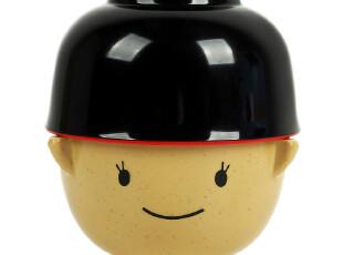 纳川 情侣 碗 卡通日本娃娃带盖公仔碗对碗 创意大口碗 1对,碗盆,