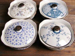 日式碗 和风系列盖碗 汤盅 陶瓷 炖盅 甜品盅 炖煲 四件套,碗盆,
