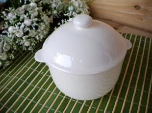 欧式创意甜品碗炖盅纯白餐具 外贸出口原单陶瓷 炖燕窝碗 烘焙碗,碗盆,