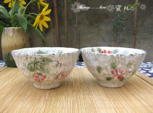 外贸原单 日式雪花釉 陶瓷米饭碗 小汤碗瓷碗 创意环保餐具釉下彩,碗盆,