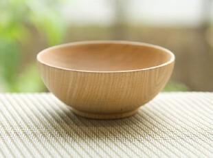 O2氧气生活 日系个性木餐具天然环保原木碗汤碗实木碗木质饭碗,碗盆,