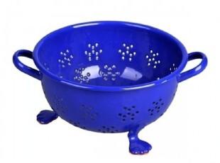 【生活饰集】搪瓷漏盆 微波炉餐盘 餐具 果盘 家具艺术饰品,碗盆,
