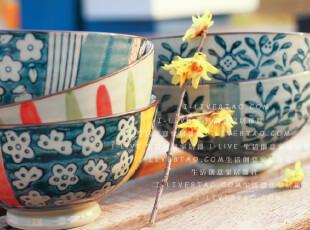 出口日本和风系列餐碗 和风陶瓷饭碗 日式手绘 送礼精品套装,碗盆,