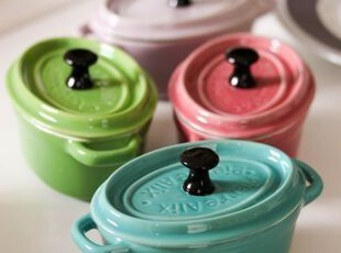礼物之选:Essentiel卡哇伊色彩4件套小烤碗礼盒 出口 西餐餐具,碗盆,