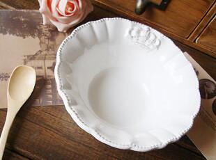 2141 洛丽塔。欧式做旧餐具 复古皇冠浮雕陶瓷碗 冰淇淋碗 沙拉碗,碗盆,