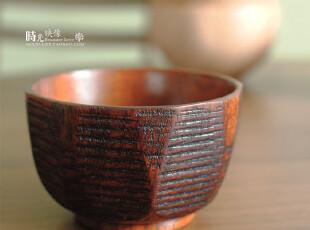 外贸日式原木外切麻花碗 大漆制品 宝宝儿童餐具,碗盆,