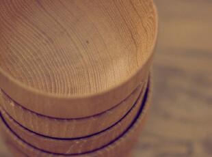 栗木手工打磨免漆木碗 日本代工订单适作儿童碗 套装请拍另外链接,碗盆,