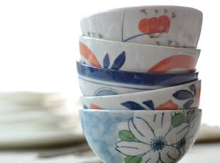 【浮光掠影】崎千香日式和风陶瓷饭碗/米饭碗/菜碗5只 礼盒套装,碗盆,