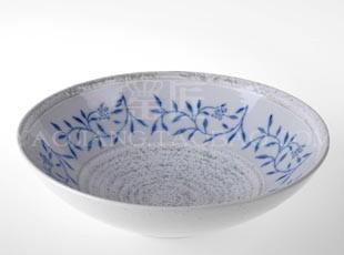 潮商/日本陶瓷餐具/日式大面碗/和风汤碗/手绘泡面碗/瓷碗/釉下彩,碗盆,