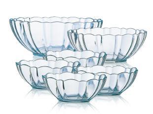 弓箭乐美雅 镇店之宝 阿尔卡德钢化玻璃沙拉碗色拉碗6件套,碗盆,