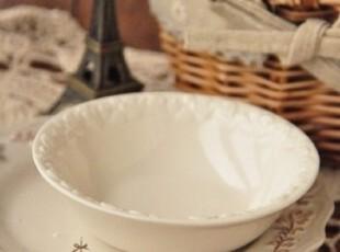 zakka杂货 迷你素雅浮雕陶瓷碗 调味小碗碟 儿童碗 拍照道具,碗盆,