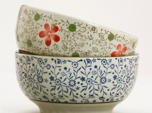 小北家CH15 日式 陶瓷 大碗 大面碗 汤碗 两头装礼盒 釉下彩餐具,碗盆,
