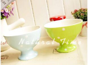 水玉迷┊陶瓷高脚冰激凌碗 雪糕碗 0.6kg,碗盆,