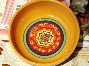 美克美家/波西米亚风格陶瓷餐具/冰激凌碗/小菜碗/沙拉碗四色可选,碗盆,